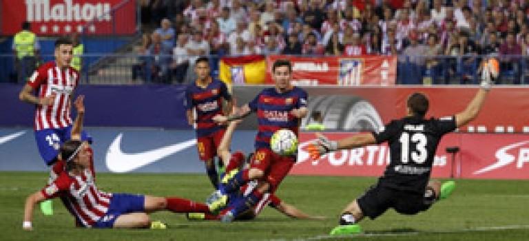 پیروزی بارسلونا برابر اتلتیکو مادرید