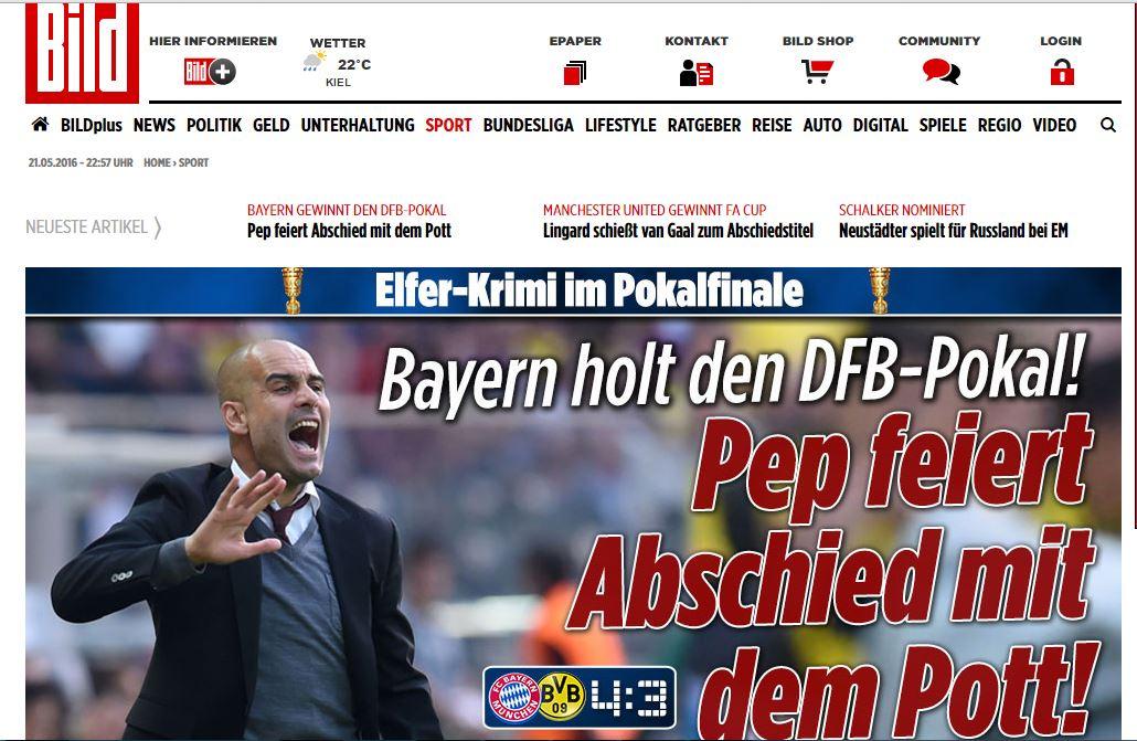 واکنش جالب رسانه ها به آخرین جام پپ