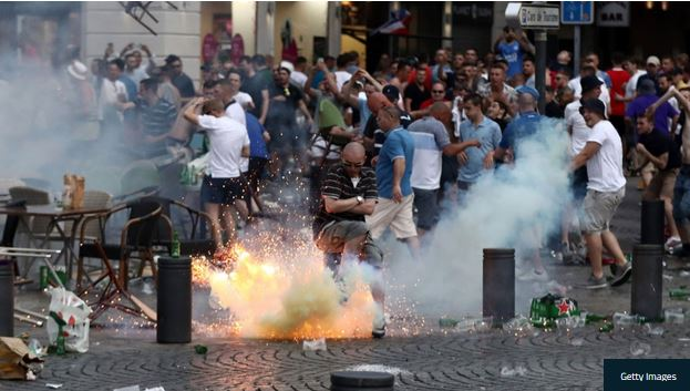 درگیری هواداران تیم ملی آلمان با پلیس
