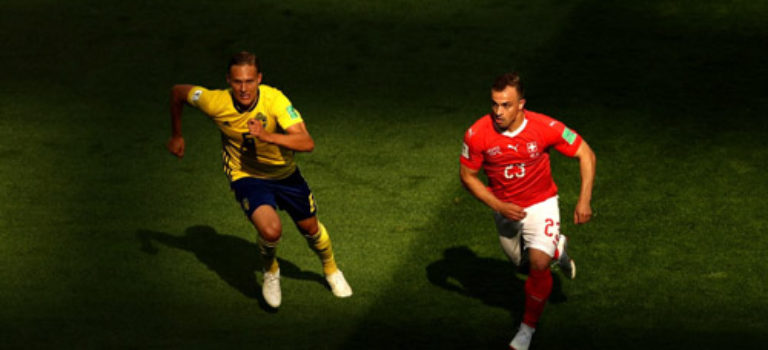 سوئد با برتری برابر سوئیس به یک چهارم نهایی رسید