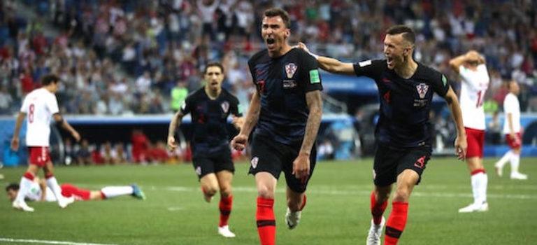 صعود کرواسی به یک چهارم نهایی با برتری برابر دانمارک